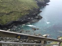 Blick runter auf die Bucht in Tintagel