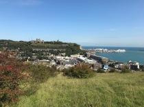 Blick ueber Dover und Hafen