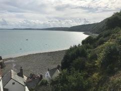 Blick über die Küste von Clovelly