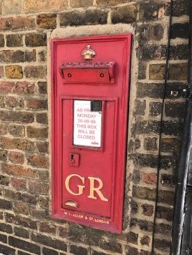 Upnor hatte mal einen Briefkasten
